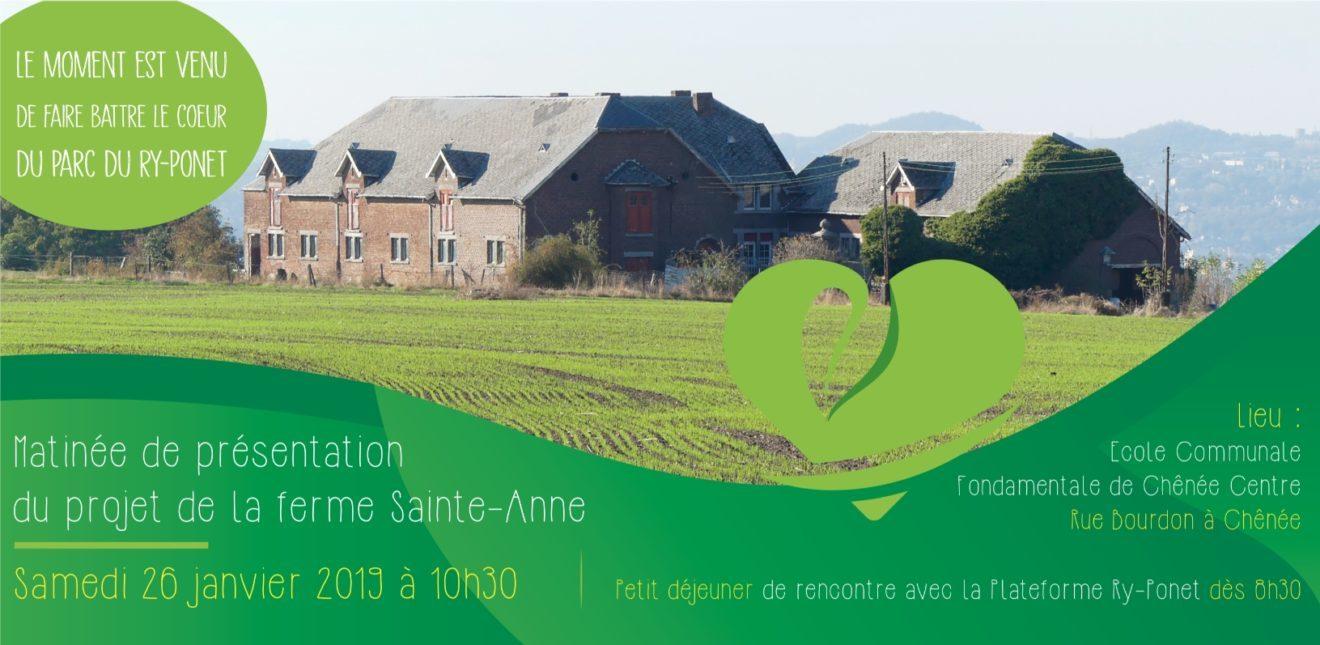 La plateforme Ry-Ponet envisage la création d'une coopérative pour racheter la ferme Sainte-Anne, coeur du Ry-Ponet